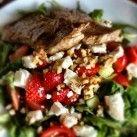 Rucolasallad med jordgubbar och chèvre - Recept från Mitt kök - Mitt Kök