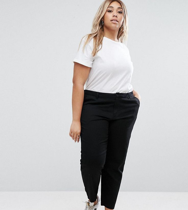 ASOS CURVE Chino Pants - Black