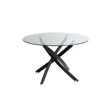 25 best ideas about table ronde en verre on pinterest - Table ronde pied central bois ...