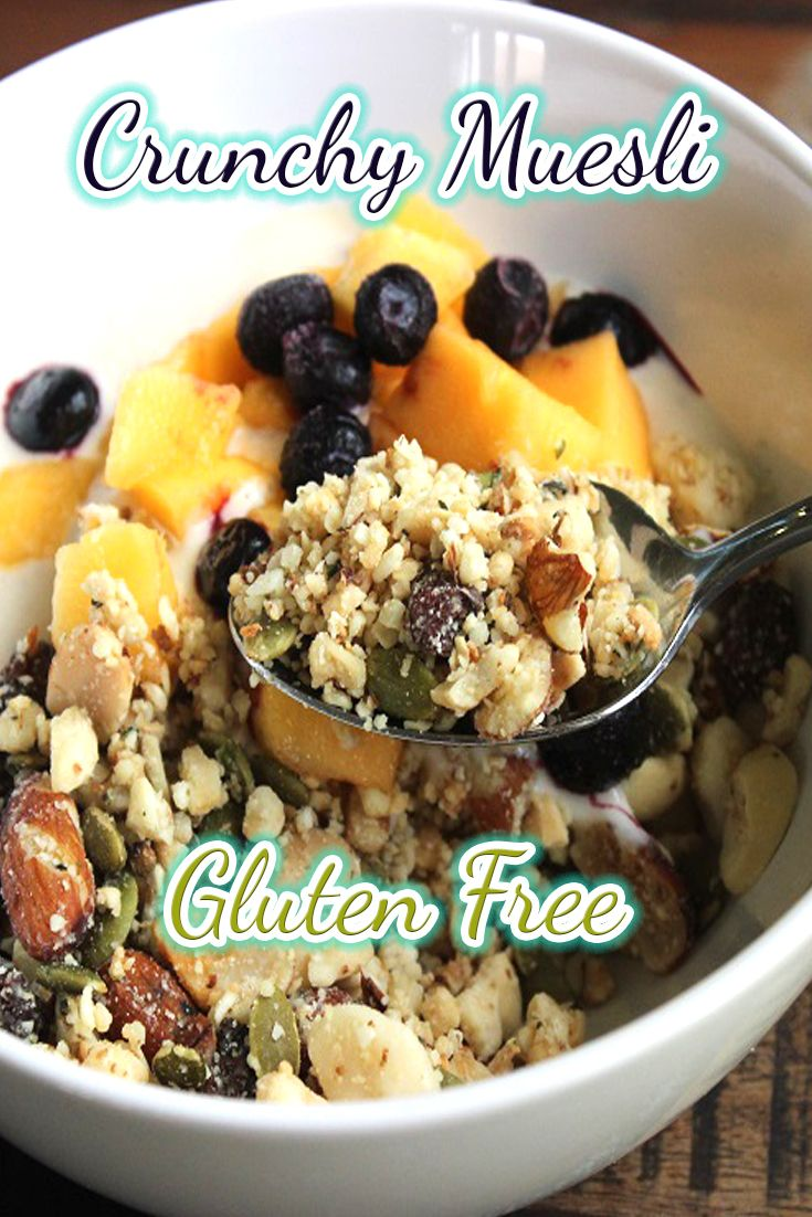 This gluten free crunchy muesli is packed with good healthy fats, it will keep you full for ages because your body will love it!