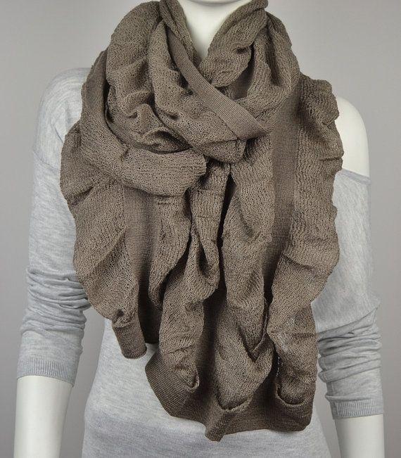 BUY 1 & GET 1 FREE  Beige Knitted Scarf  Wool Scarf by LIFEPARTNER, $18.40