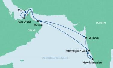 AIDA Orient & Indien Kreuzfahrt