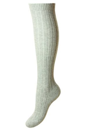 Campbell's of Beauly - Tabitha Long Cashmere Sock Grey