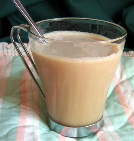 Rhode Island Coffee Milk, where my coffee obsession began. Cold milk, Autocrat or Eclipse coffee syrup (both are delicious! ), combine in a crazy colored aluminum glass and stir. Ahhh...