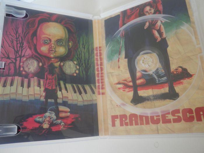Interior vacío del DVD de Francesca