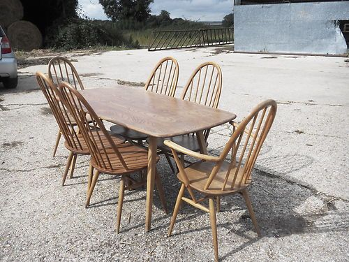 Barn Find Winsor Ercol Dining Table and Chairs.  eBay