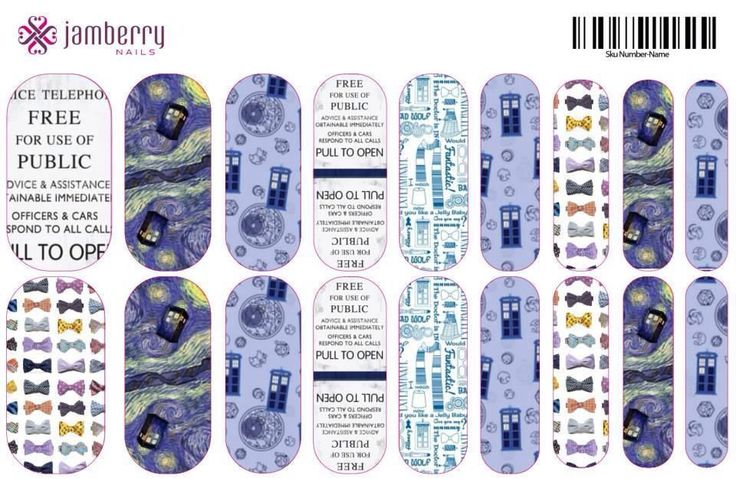 ATTN Whovians!! This is an EXAMPLE of custom Doctor Who nail wraps!!!! It's so easy, just find your favorite Doctor Who images and upload them directly to the Jamberry nail art studio! http://augustgirl.jamberrynails.net/