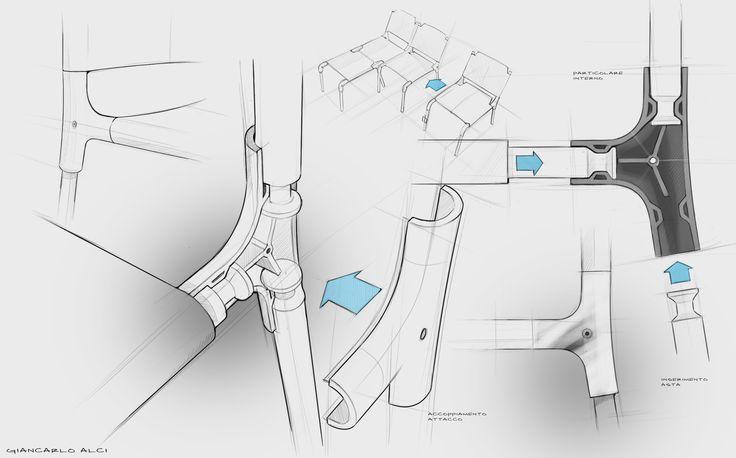 Giancarlo Alci sketch. particolare 1 concept.