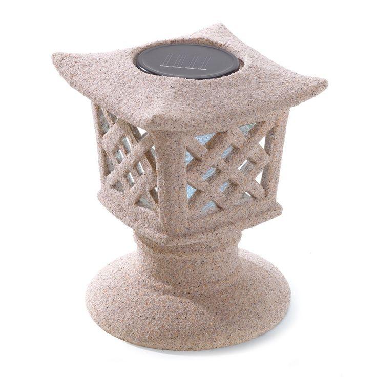 Ceramic Pagoda Solar Powered Garden Lantern