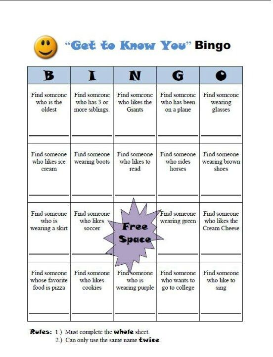 Ice Breaker \u2013 People Bingo Cards for Ice Breaker Bingo Template