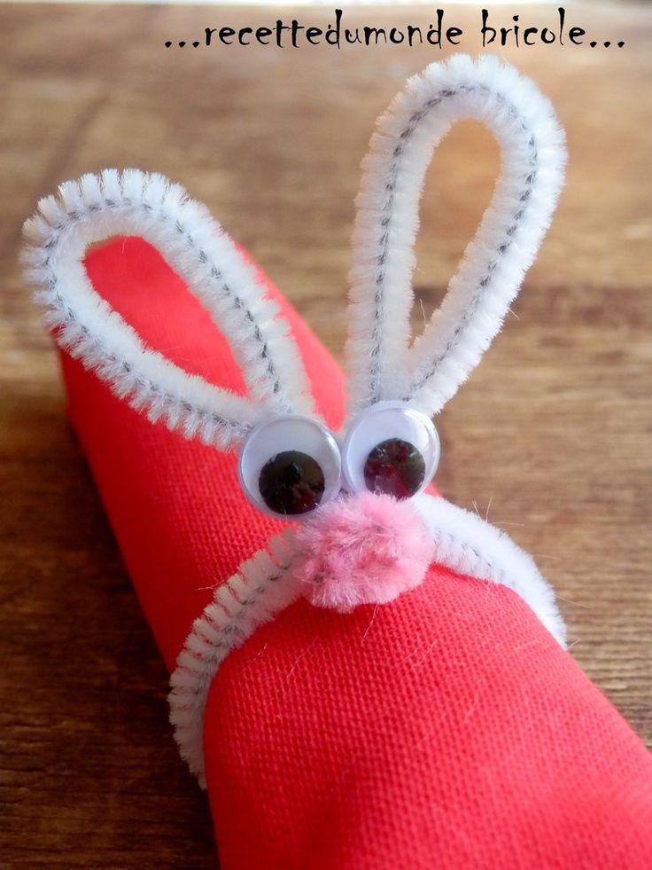 Une petite idée sympa pour décorer votre table de pâques ! Avec des chenilles blanches , des yeux autocollants et un petit pompon rose ! Bonne créa !!