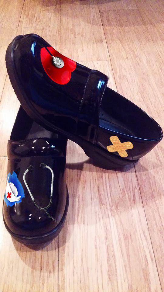 A Clog Style Nurse Shoe Limited Edtion Nurses Rock On