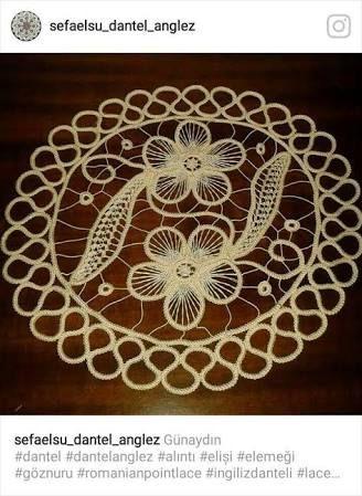 Irish Crochet Hexagon Doily scheme ile ilgili görsel sonucu