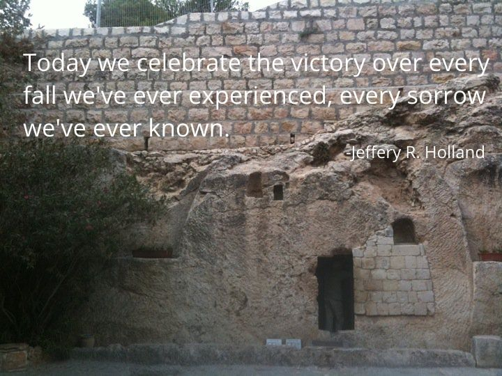 Today we celebrate the victory over every fall we've ever experienced, every sorrow we've ever known.  #ldsconf pic.twitter.com/fJJYPi0zP1
