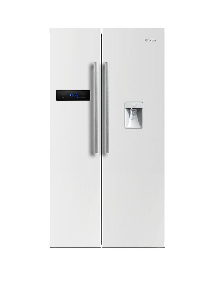 90cm American-Style Double Door Fridge Freezer with Water Dispenser - White, http://www.very.co.uk/swan-90cm-american-style-double-door-fridge-freezer-with-water-dispenser-white/1600077319.prd