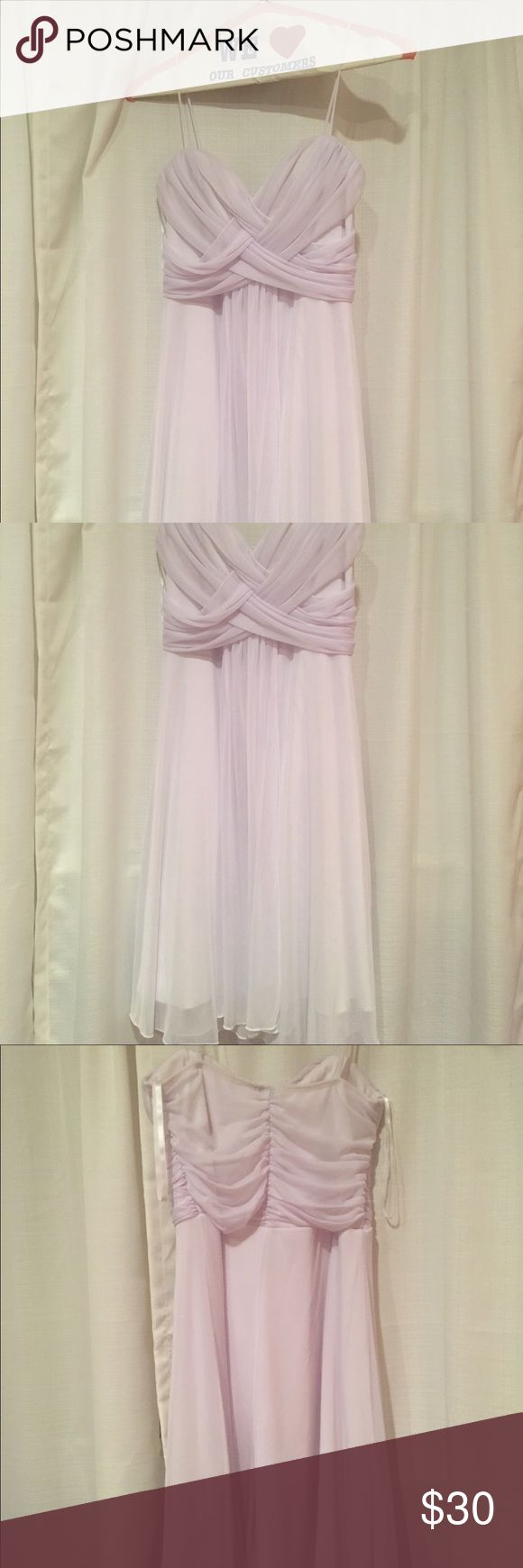 "Taboo white formal dress size 7-8 Love this dress, but it's slightly too big, although it could probably fit sizes 6-8. I'm 5'5"" and it goes down to about my knees so perfect for a formal event! No signs of wear. Taboo Dresses Prom"