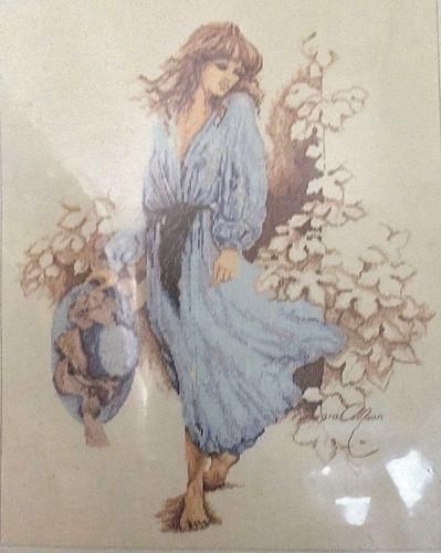 Lanarte Sara Moon Rare Counted Cross Stitch Kit 33501 Girl In Blue NIP Vintage
