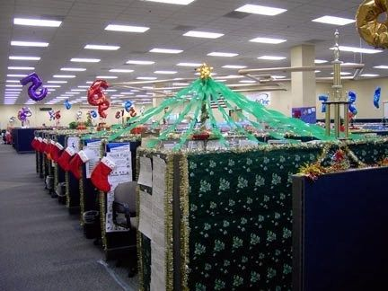 9 best DECOR FOR CUBICLE images on Pinterest Cubicle ideas - office christmas decorations