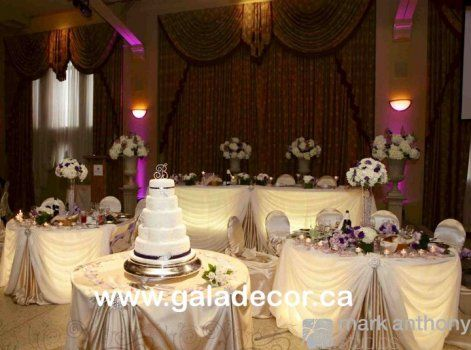 Purple And Ivory Wedding Centerpieces | ... Wedding Reception Decor Liuna Station Champagne Ivory Vintage Wedding