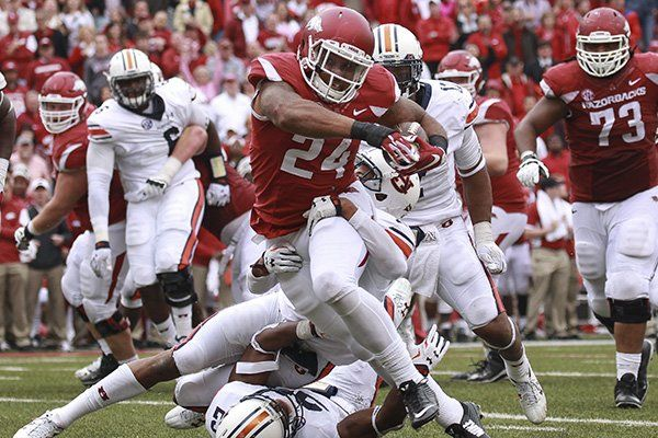Arkansas running back Kody Walker runs for a touchdown during the second overtime of a game against Auburn on Saturday, Oct. Description from wholehogsports.com. I searched for this on bing.com/images