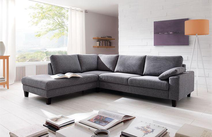 die besten 17 ideen zu ecksofa grau auf pinterest couch grau wohnzimmer ecksofa und salon zimmer. Black Bedroom Furniture Sets. Home Design Ideas