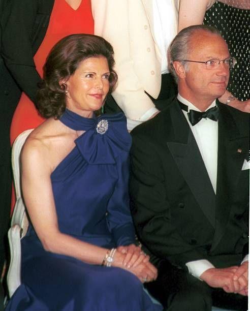 Königin Silvia von Schweden Ehemann König Carl Gustaf von Schweden '90 Geburtstag von G r a f L e n n a r t B e r n a d o t t e' Insel Adel Adelige...