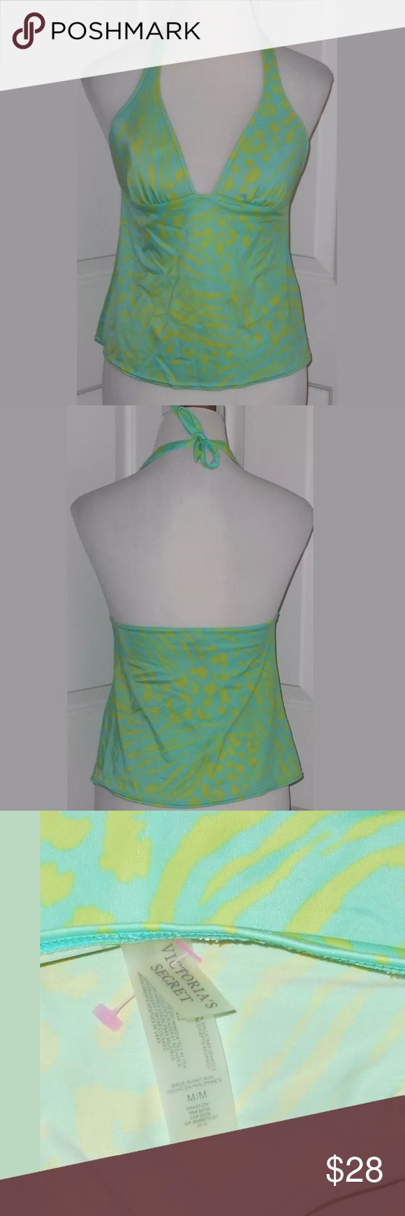 Victoria's Secret Green Tankini Top size M Victoria's Secret Green Animal Print Tankini Swimsuit Top. Women's size Medium. Great, gently used condition. Victoria's Secret Swim
