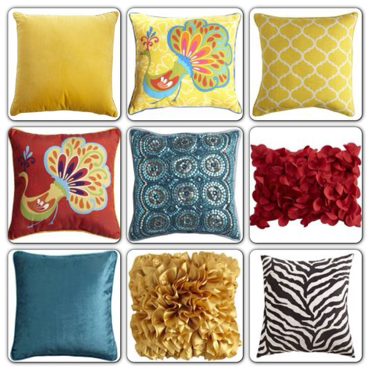Ideas for pillows to accent...all from Pier One Imports