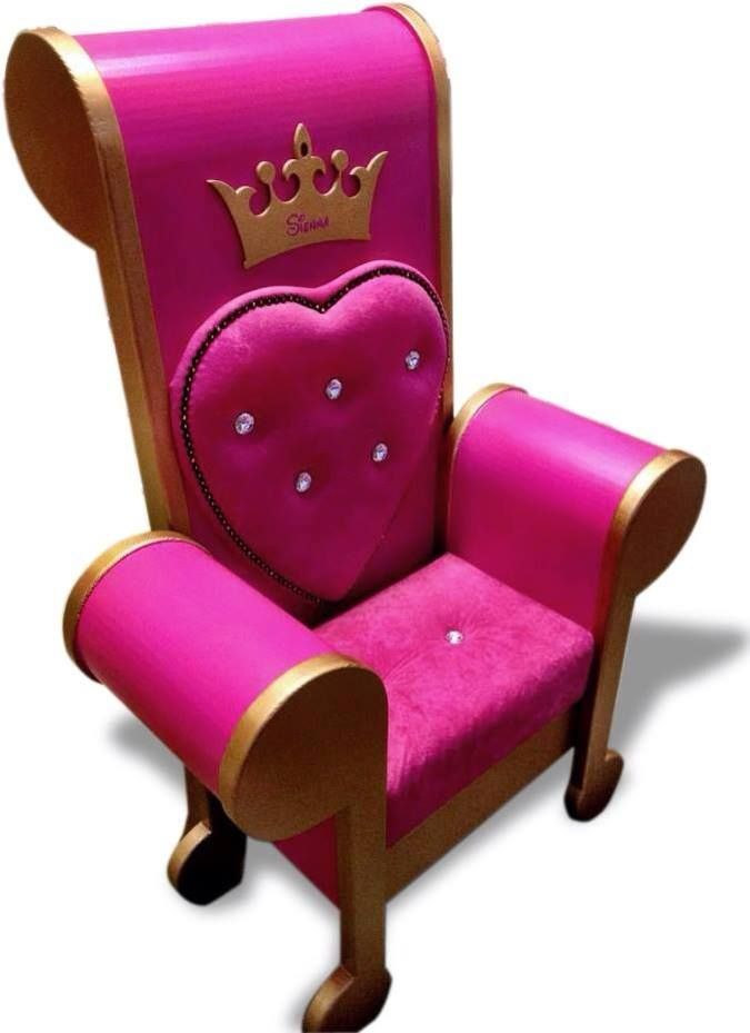 This Stunning And Glorious Princess Throne Chair Adds Character To Any Little Girls Princess