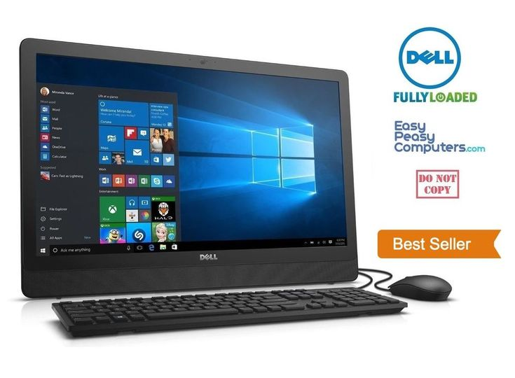 """Computers for Sale - NEW DELL All in One Desktop Computer 19.5"""" Windows 10 WiFi DVD+RW (FULLY LOADED) #Dell"""