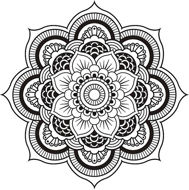 Advanced Mandala Coloring Pages Coloring Coloring Pages