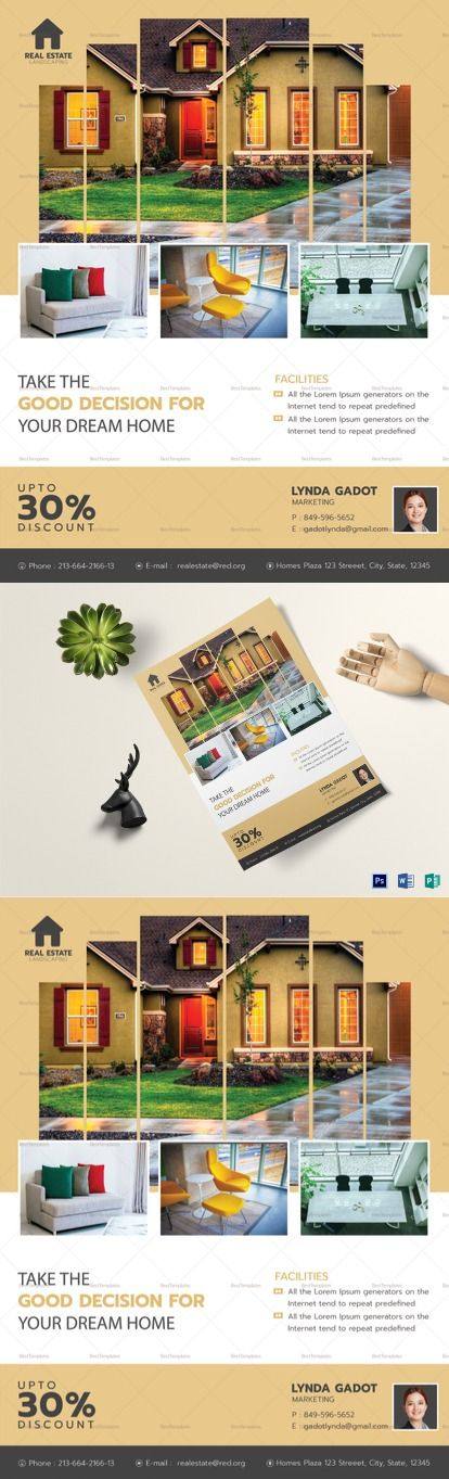 Luxury Real Estate Flyer Template -- Formats Included : MS Word, Photoshop, Publisher File  -- Size : 8.5x11 Inchs