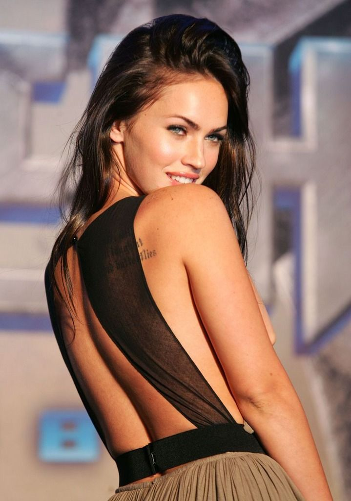 """I like the bad-boy types. Generally the guy I'm attracted to is the guy in the club with all the tattoos and nail polish. He's usually the lead singer in a punk band and plays guitar. But my serious boyfriends are relatively clean-cut, nice guys. So it's strange."" -Megan Fox"