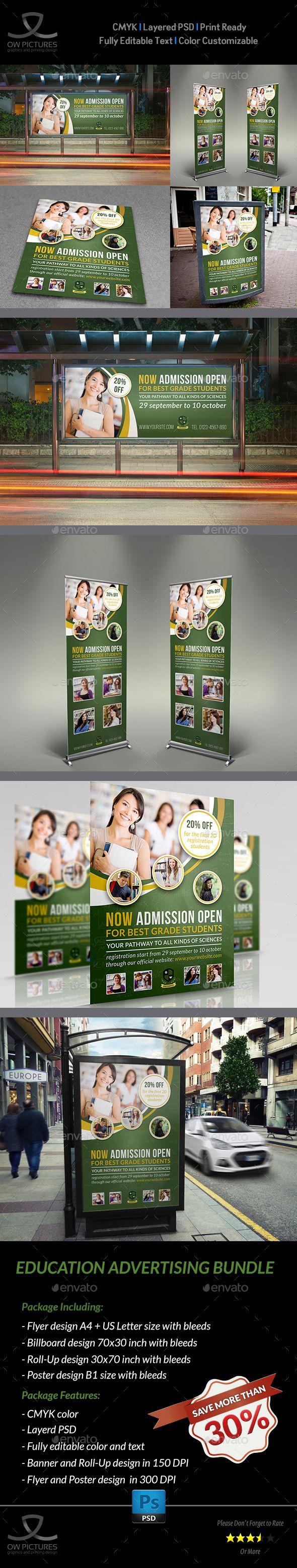 Education Advertising Bundle by OWPictures Advertising Package Description : Edu...