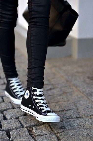 Chucks... Black High Top Converse