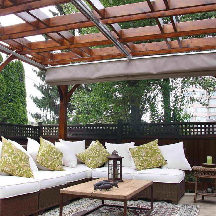 Outdoor Pergola With Canopy 12X16