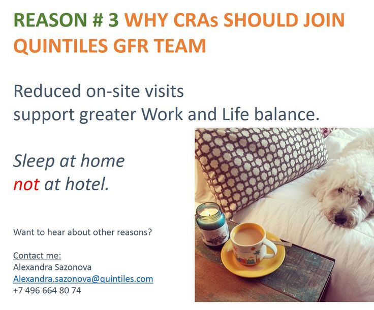 Positions for CRAs are open across Europe. Reach me out and I will connect you with great opportunity.