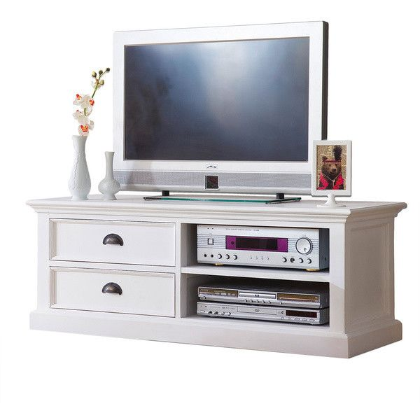 Nova Solo NovaSolo Mahogany Medium TV Table ($669) ❤ liked on Polyvore featuring home, furniture, storage & shelves, entertainment units, white television stand, flat screen tv stand, white tv stand, white media cabinet and white console