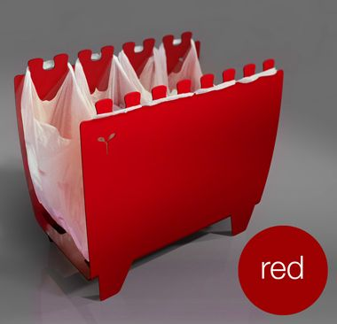 Procuro desesperadamente!!! The Binvention is Sprout Design's first self-initated batch production project. Hailed as 'Super slick' by Time Out, it's a new flexible way of re-using shopping bags to collect cans, bottles and papers for recycling at home and comes in four colours
