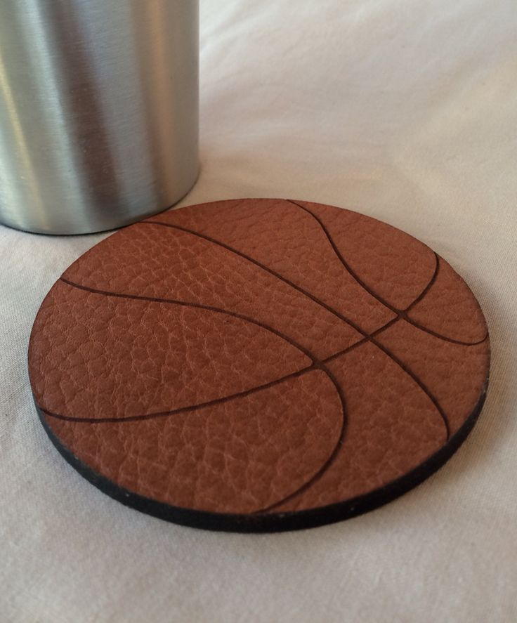 The Gully leather 'Slam Dunk Basketball coaster.