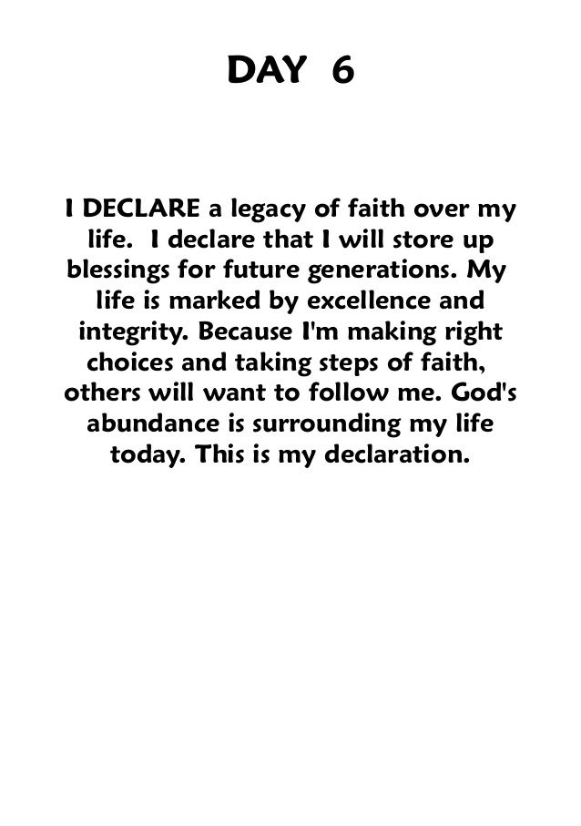 """In the Name of Jesus Christ, i Declare this! Book: """"i Declare,"""" joel osteen."""