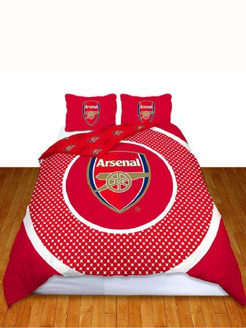 Arsenal FC Bullseye Double Reversible Duvet Cover - Bedding Set