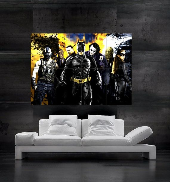 Batman the dark knight rises comics poster print wall art for Dark knight rises wall mural