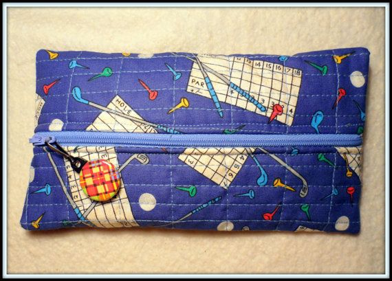 VINTAGE GOLF THEMED Novelty Fabric  Small by BAGLADYFROMTHEBAY, $10.00