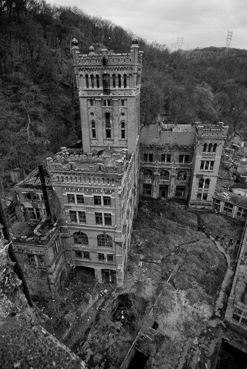 """The abandoned coal mine of """"Hasard de Cheratte"""" - Liege, Belgium."""