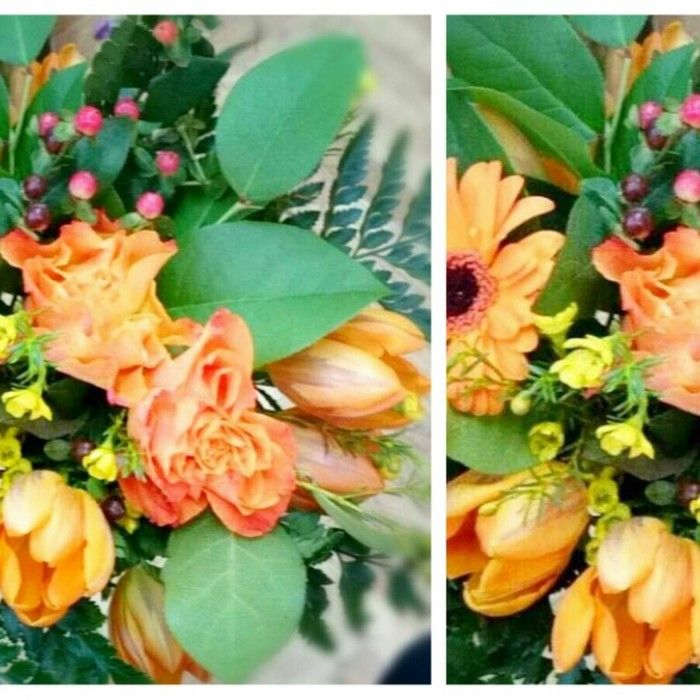 BUKIETY - WWW.BIALEKWIATY.PL bukiet kolorowy, bukiet pomarańczowy, piękny bukiet