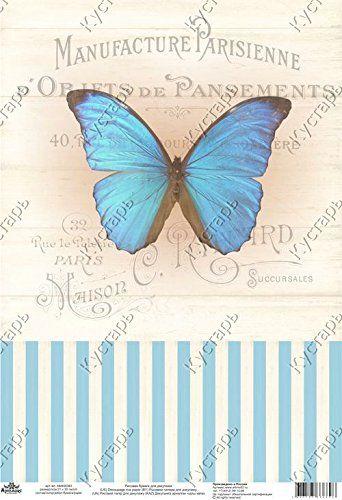 Rice paper for decoupage. Blue butterfly and stripe retro... https://www.amazon.co.uk/dp/B01N7GPSWZ/ref=cm_sw_r_pi_dp_x_xwZSybE2XAQJ3