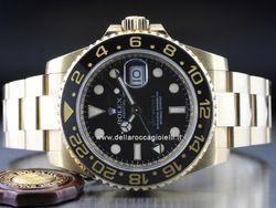 Rolex - GMT-Master II 116718LN Cassa: oro giallo - 40 mm Ghiera: ceramica Vetro: zaffiro Colore quadrante: nero Bracciale: oyster Chiusura: oysterlock con easylink Movimento: automatico
