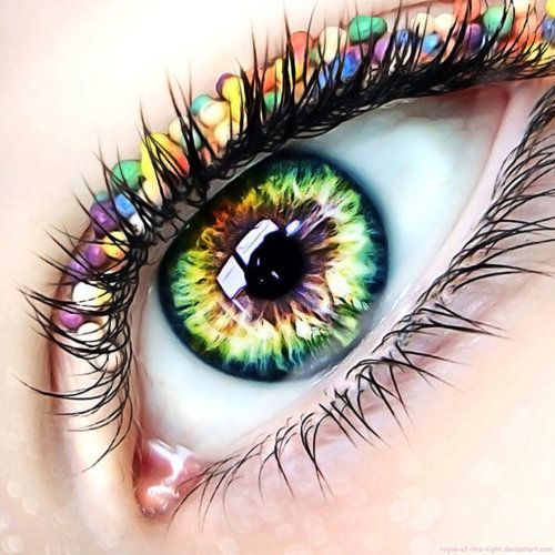 .makeup??Eye Makeup, Colors, Rainbows, Makeup Art, Eyeart, Eye Liner, Eye Art, Beautiful Eye, Art Pictures