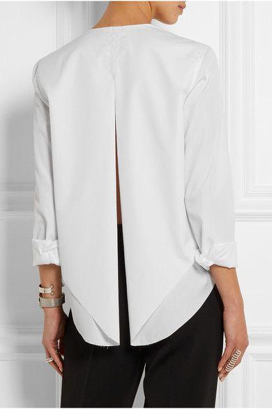 Dion Lee | Open-back cotton-poplin shirt | NET-A-PORTER.COM
